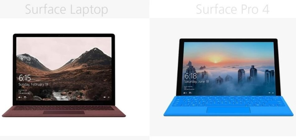 Microsoft Surface Pro 4 Vs. Surface Laptop