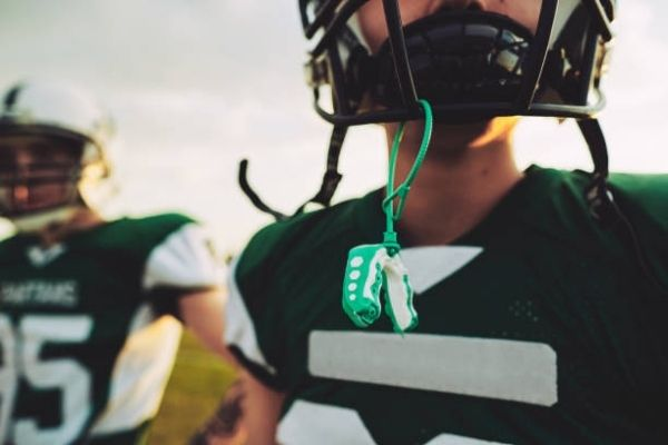 Mouth guard and nose guard for football player