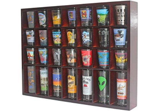 wall shot glass holder