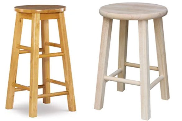 Top 10 Best 18 Inch Wooden Stools Reviews