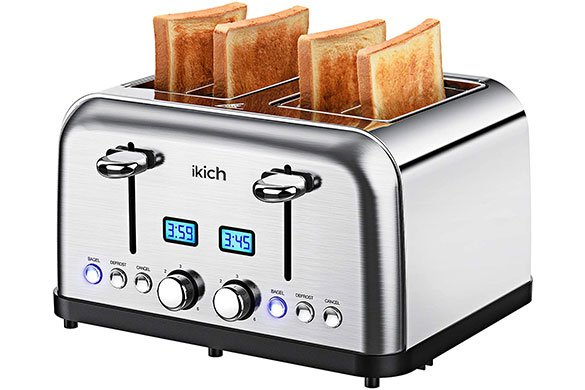Top 10 Best 4 Slice Long Slot Toaster Reviews